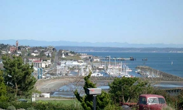 photo of Port Townsend, washington, looking northward